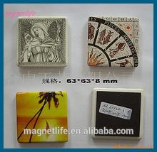 custom souvenir fridge ceramic magnet ,