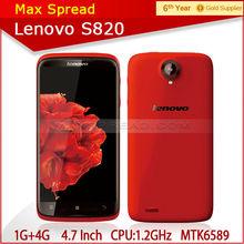 100% original Lenovo S820 MTK6589 Quad Core 4.7'' IPS 1280x720px 1GB RAM Dual Sim 3G 13mp Camera GPS china cheap mobile