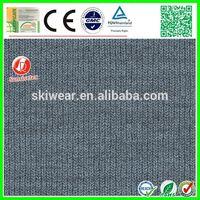 Interlock Rib spandex vintage thick polyester stretch knit fabric