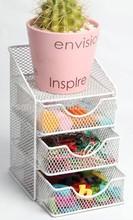 Metal mesh 4 tierwire office stationery desk drawer organizer/Desk storage organizer