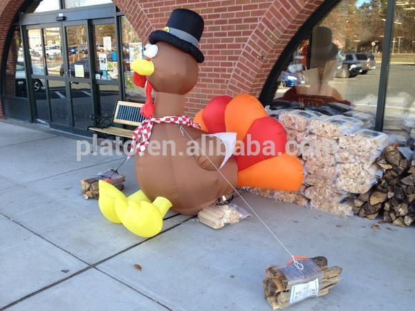 inflatable LED light turkey for thanksgiving