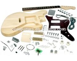 Jaguar electric guitar kits /unfinished guitar/DIY guitar with P90 pickups