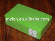 Yoga Block - Green, High Density Foam, Beveled edges