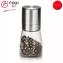 101020 cheap price pepper grinder mill glass jar,electric salt and pepper grinder,pepper mill ceramic grinder