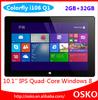 10.1 inch Quad Core win8 Processors colorfly i106 Q1 tablet PC 2GB 32GB
