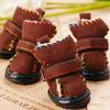 2014 new design pet snow boots, pet dog shoes for winter, soft wear pet shoes