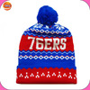 custom knitted pom beanie hat wholesale