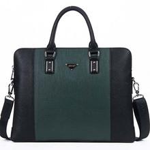 BQ006 bags for laptop fashion color PU men' leather laptop bags