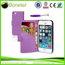 Magnetic Wallet Card Holder Leather Flip Case for iPhone 5