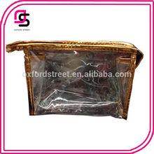 Hot sales stylish transparent ladies cosmetic bag