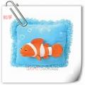 di alta qualità blu peluche cuscino cuscino con pesci pagliaccio