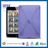 C&T Retro flexible frosted tpu x grain candy color for apple ipad mini cases and covers