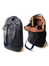2 Bottle Black Leather Wine Carrier bag