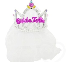 Hen Party Plastic Lady/Woman Tiara W Mesh Accessories