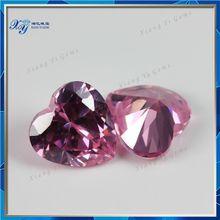 brazil semi precious stones 8x8mm pink heart shape natural bulk rough cut semi precious gemstone stone beads