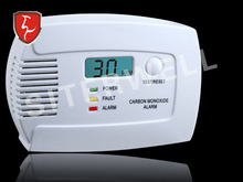 EN50291 approved carbon monoxide alarm detector with LCD display & Battery operated