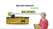 USB/PS/2 big letter keyboard laptop keyboard to usb adapter for elder people