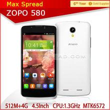 Original ZOPO ZP580 WCDMA 4.5'' QHD MTK6572 Dual Core Cell Phone alibaba express