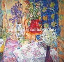 Fine art-Hot selling leonardo da vinci handmade oil fabric painting