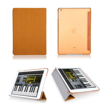 Made-in-China Leather Case cover for iPad Mini with Stand for Apple iPad Mini 1 (Support Smart Cover Function)