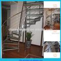 In acciaio inox vetro rotondo scala/scala interna/scale piccolo spazio