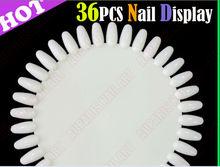 36 tips nail art display Nail Polish color chart nail demountable color card