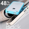 Fashionable TPU Bumper with Clear Transparent Back Plate case for iPhone 4S