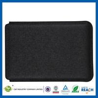 C&T Slim black tan business retro classic case wallet pu leather for ipad mini