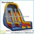 2014 de alta calidad comercial de grado piscinas inflables toboganes de agua para los niños