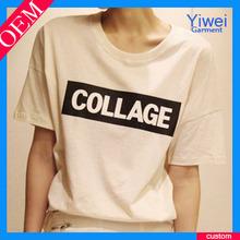 Custom Plain Womens T Shirt Wholesale Fashion Printing T Shirts