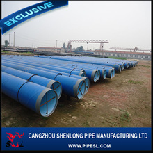 SSAW welded PE coated steel pipe for oil pipeline