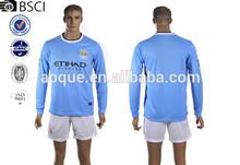 2013/14 Manchester-city home soccer jersey football jersey soccer shirt OEM order,custom long sleeve soccer jersey