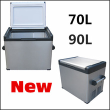 20L to 90L 2014 new design 12V 24V DC Portable Fridge Car Fridge with strong detachable handle