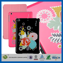 C&T Protective stand foldable flip colorful magnetic pu case cover for ipad mini