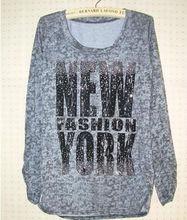 under 1 dollar unbranded wholesale clothing printed long sleeves t shirt ladies garment shop alibaba China clothing