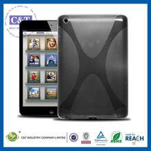 C&T Black soft tablet portable defender housing gel tpu case for ipad mini