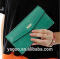 Estilo coreano largo carteras/billeteras clásica señora bolso de embrague