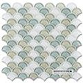 parlak renkli balık pulu cam mozaik çini backsplash fikirler