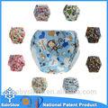 Vente chaude réutilisable lavable couches pour bébés, Elephant imprimé couches lavables, Couches pour nouveau - né de détail fabriqués en chine