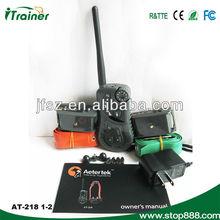Aetertek remote dog training shock collar AT-218 long range 550m for two dogs