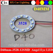 12 SMD LED 40mm Car Angel Eyes Light Ring