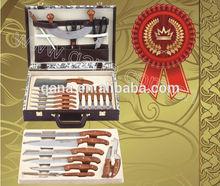 25pcs knife set with leather case/Promotional Knife