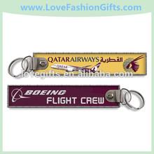 Qatar Airway/Boeing Flight Crew Embroidered Key Ring/Key Fobs