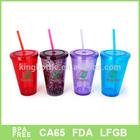 Plastic double wall freezer mug, frozen mug, drinking ice mug BPA free