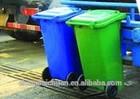 Blue, orange, red, 240 liter waste bin, mobile garbage can, Plastic trash container