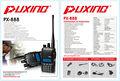 Zweiwegradio handheld px-888 2014 neuankömmling