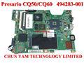 Original 494283-001 presario cq50 cq60 g50 intel portátil notebook systemboard placa base para hp compaq& probado de trabajo perfecto