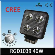 ip68 flood/spot beam 9-32v 3500 lumen 40w offroad high quality led light bar RGD1039 for auto offroad atv suv boat train