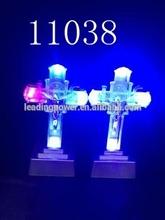 Led acrylic cross jesus night light /led flashin cross 11038
