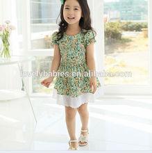 2014 Korea fashion baby girls dress cute pink color 3 - 8 years children's princess dress on sale kid's dress
